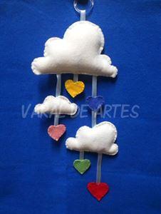 Imagem de Móbile Nuvens e Corações